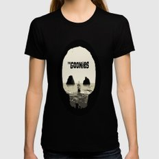 THE GOONIES Womens Fitted Tee Black LARGE