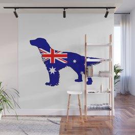 Australian Flag - English Setter Wall Mural