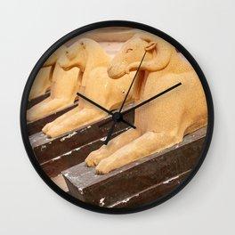 sphinx of the desert Wall Clock