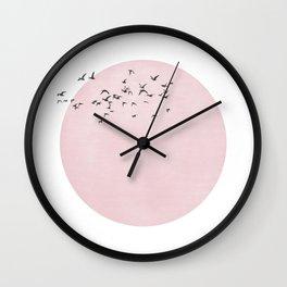ciel rosé Wall Clock