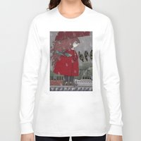 freud Long Sleeve T-shirts featuring At the Harbor by Judith Clay