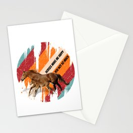 horse watercolor art for horse riders and horsback riding lovers Stationery Cards