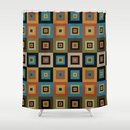 Retro Square Shower Curtain