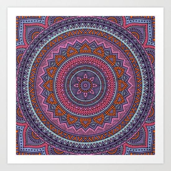 Hippie mandala 54 Art Print