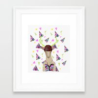 kris tate Framed Art Prints featuring LOLLIPOP WAVVES By Belen Segarra , Elena Mir, Kris Tate  by Serpentine