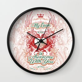 Awesome With You Wall Clock