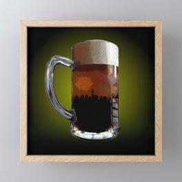 Big Beer Framed Mini Art Print