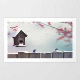 Winter's Garden Art Print