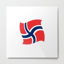 flag of norway 14 – Chalk version  snow,scandinavia,scandinavian,norwegian,oslo Metal Print