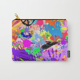 Psychodelic Hipppie Abstract Painting Carry-All Pouch