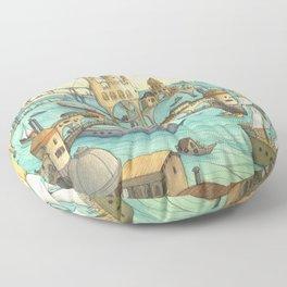 Ship City Floor Pillow