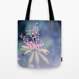 Dreamy Winter Haze, Pink Macro Plant - Nature Photography Tote Bag