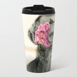 Roses are grey Travel Mug
