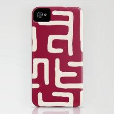 Kuba in oxblood iPhone (4, 4s) Slim Case