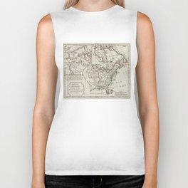 Vintage Map of North America (1795) Biker Tank