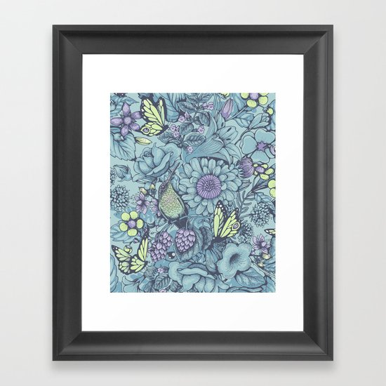 Beauty (eye of the beholder) - aqua version Framed Art Print