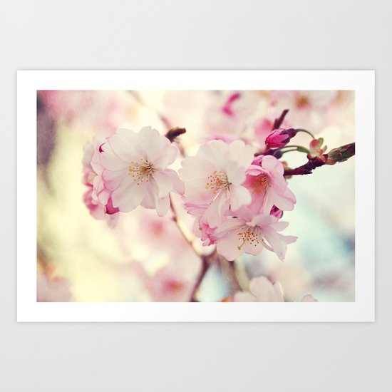 cotton candy flowers Art Print