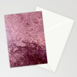 Catching Up - Mauve Purple Pink Abstract Fluid Art Stationery Cards