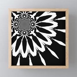 The Modern Flower Black & White Framed Mini Art Print