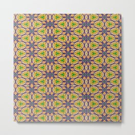 Mardi Gras Kaleidoscope 4506 Metal Print