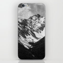 Black and White Canadian Rockies iPhone Skin