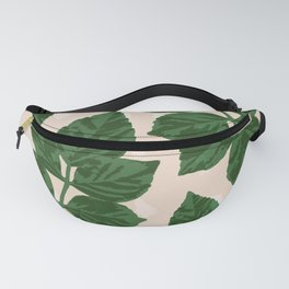Sweet Leaf Motif on spotted peach Fanny Pack
