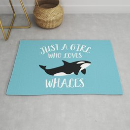 Just A Girl Who Loves Whales Rug