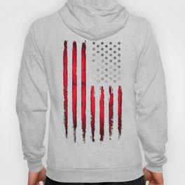 American flag Vintage Black Hoody