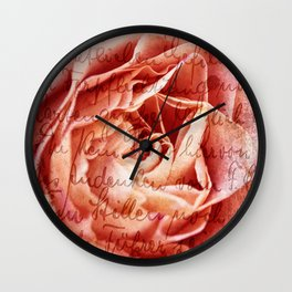 Poetry Wall Clock