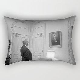 LBJ Looking At FDR Rectangular Pillow