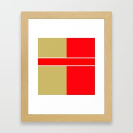 Team Colors 6...red,gold Framed Art Print
