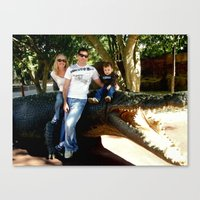 ashton irwin Canvas Prints featuring Tribute to Steve Irwin by Chris' Landscape Images & Designs