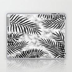 Black palm leaves on marble Laptop & iPad Skin