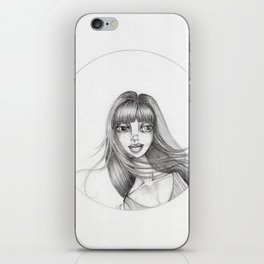 JennyMannoArt Graphite Drawing/Abbey iPhone Skin