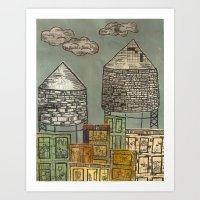 Watertowers Art Print