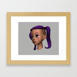 Purple Girl 2 Framed Art Print