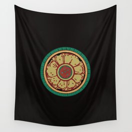Pata Pattern in Green & Yellow Wall Tapestry