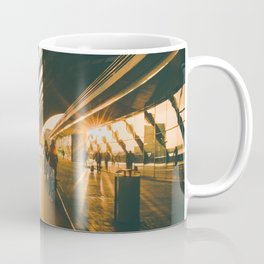 Biking in Amsterdam, Morning, Dutch Lifestyle Coffee Mug