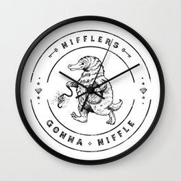 Nifflers Gonna Niffle Wall Clock