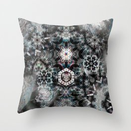 Surreal Rabbit and the Moon Throw Pillow