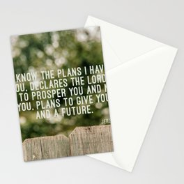 Jeremiah 29 11 Stationery Cards