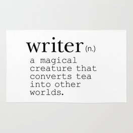 Writer Definition Converts Tea Rug
