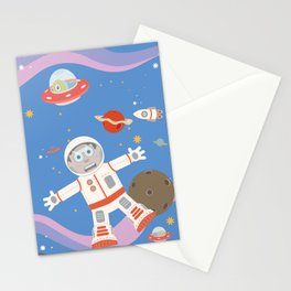 In Space No One Can Hear You Scream! Stationery Cards