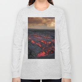 Kamukona (61g) Lava on the Big Island, Hawaii Long Sleeve T-shirt
