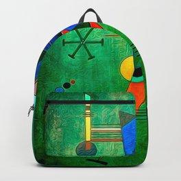 Kandinsky - Black Triangle Backpack