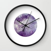 minerals Wall Clocks featuring Minerals by Paul Feather