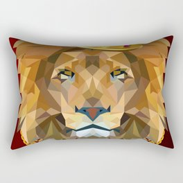 The King of Lions Rectangular Pillow