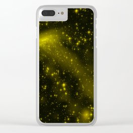 Yellow Galaxy - 3 Clear iPhone Case