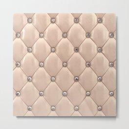 Beige upholstery pattern Metal Print