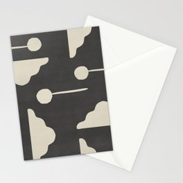 Clouds and lollipops - dark version Stationery Cards